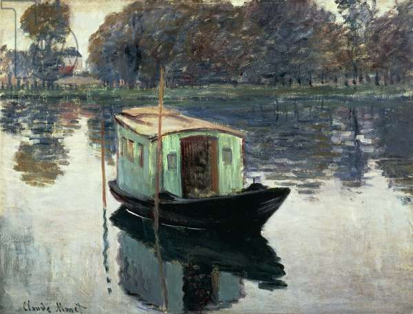 Boat Studio, 1874, oil on canvas by Claude Monet (1840-1926)
