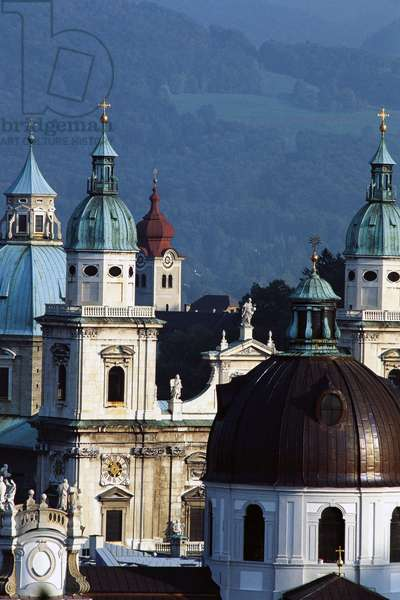 Cathedral (Salzburger Dom) of Romanesque origins, rebuilt from 1614 to 1628 by Vincenzo Scamozzi and by Santino Solari, Salzburg, Austria