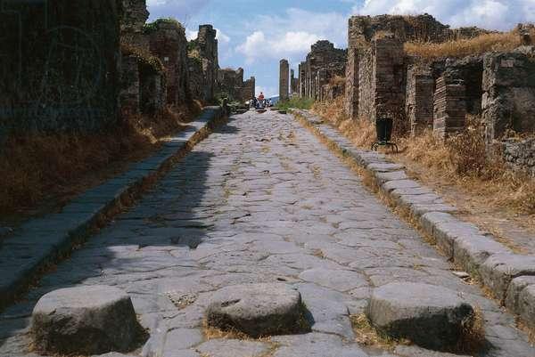 Via Stabiana, Pompeii (UNESCO World Heritage Site, 1997), Campania, Italy, Roman civilization, 6th century BC