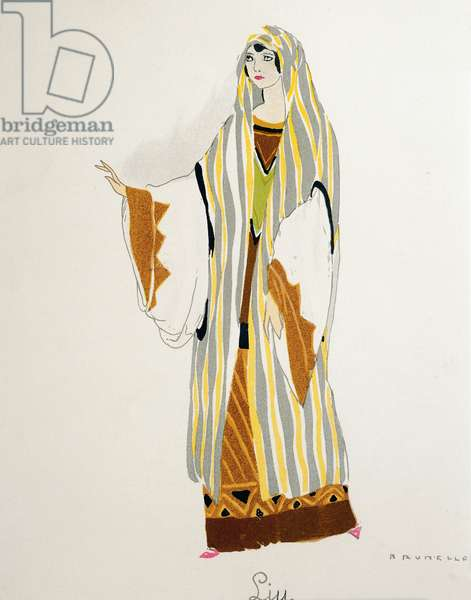 Costume for Liu from Turandot by Giacomo Puccini, sketch by Umberto Brunelleschi (1879-1949) for the first performance of the opera at the Teatro alla Scala in Milan, April 25, 1926. 20th century