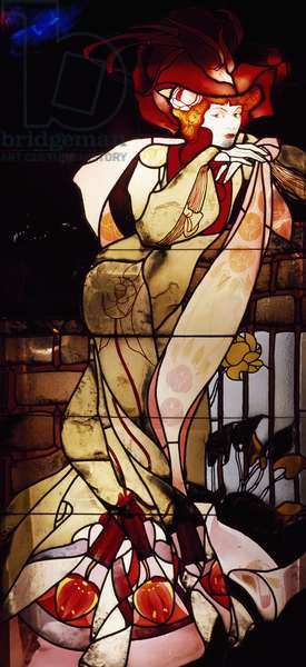 female figure, 1901-1902 (stained glass)