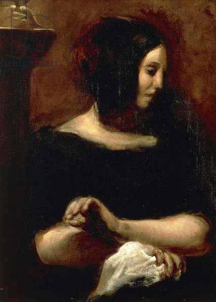 Portrait of George Sand, 1938 (oil on canvas)