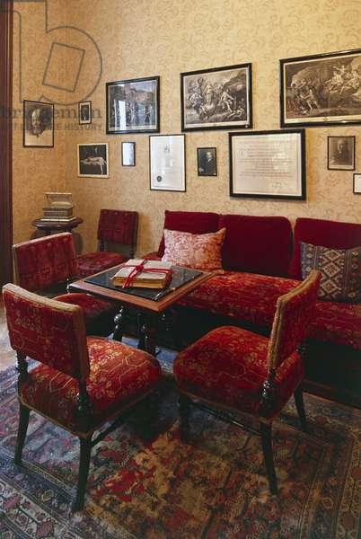 Interior of Sigmund Freud house-museum, Vienna, Austria