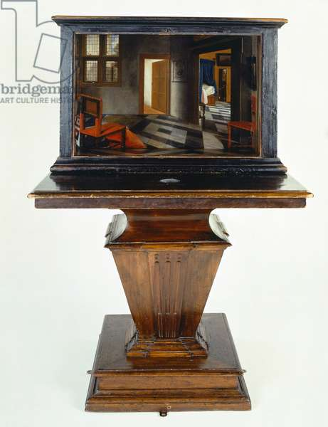 Perspective box of interior of Dutch house, by Samuel van Hoogstraten (1627-1678)