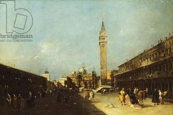 View of Piazza San Marco in Venice, by Francesco Guardi (1712-1793), oil on canvas, 96x62 cm, 1760-1770