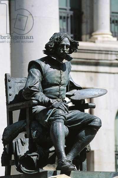 Monument to Diego Velasquez in front of Prado Museum, Madrid, Spain