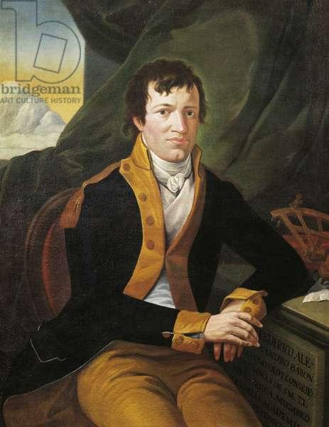 Portrait of Alexander Freiherr von Humboldt (Berlin, 1769-1859), German naturalist, explorer and botanist, Painting, 1803