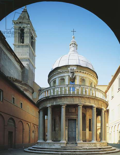Temple of St Peter in Montorio, 1502, architect Donato Bramante, Convent of St Peter in Montorio, Rome, Italy, 16th century