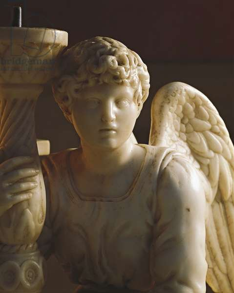 Candleholder Angel from the Ark of St Dominic, 1494-95 (marble)