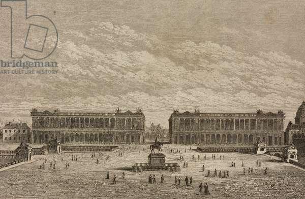 Place de la Concorde, previously Place Louis XV, Paris, France, engraving by Lemaitre from France, Troisieme partie, L'Univers pittoresque, published by Firmin Didot Freres, Paris, 1845