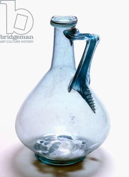 Light blue glass pitcher, Pompeii, Campania, Italy, Roman civilization, 1st century AD