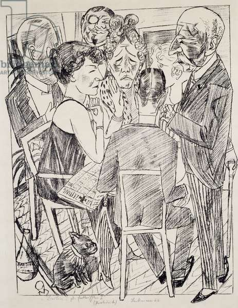 The Disappointed I, by Max Beckmann (1884-1950), lithograph. Germany, 20th century.