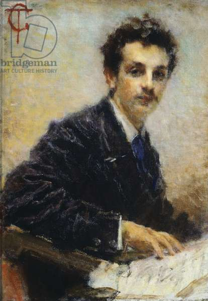 Portrait of Benedetto Junck, by Tranquillo Cremona, 1874, oil on canvas