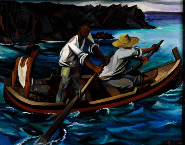 Out fishing, 1949