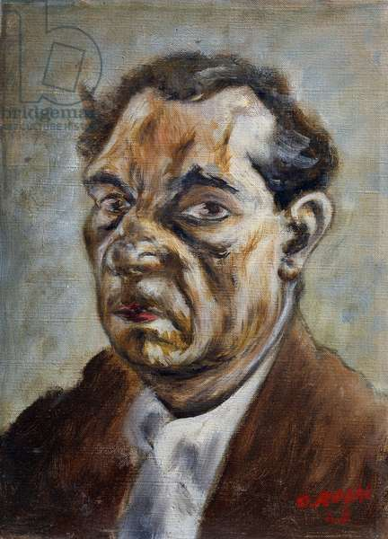 Self portrait, 1943, by Ottone Rosai (1895-1957), oil on canvas. Italy, 20th century.