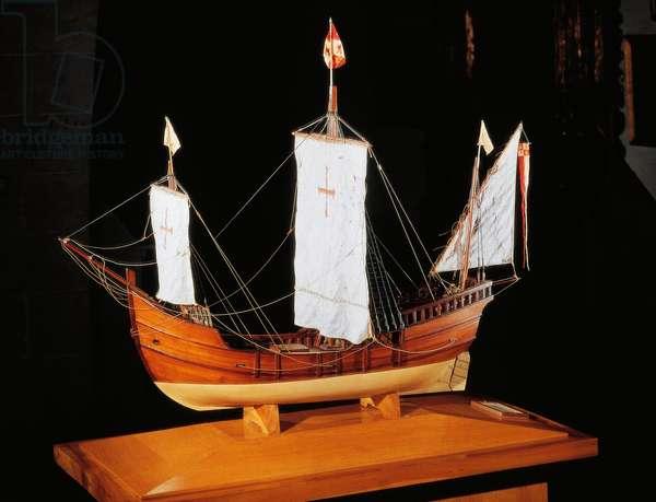 Scale model of La Pinta, Christopher Columbus' caravel