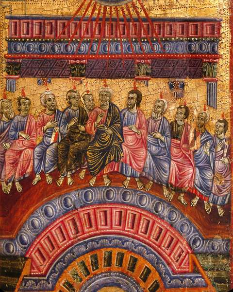 The descent of Holy Spirit by Umbrian-Tuscan master, 13th century