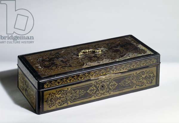 Louis XIV style wooden box, by Andre-Charles Boulle (1642-1735), France, 18th century