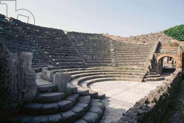 Odeion, or Small Theater, Pompeii (UNESCO World Heritage Site, 1997), Italy, Roman civilization, 1st century BC