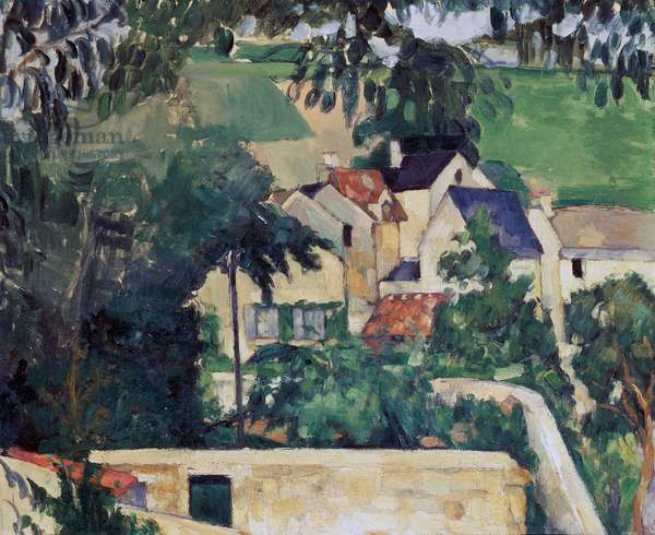 Landscape at Auvers-sur-Oise, ca 1873, by Paul Cezanne (1839-1906), oil on canvas, 46.3x55.2 cm