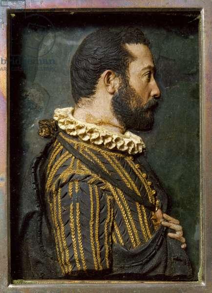 Francesco I de Medici, by Pastorino Pastorini (1508-1592), wax bust, Italy, 16th century