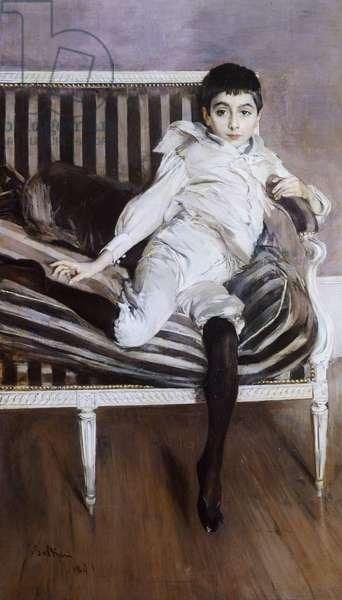 The Little Subercaseuse by Giovanni Boldini (1842-1931), 1891