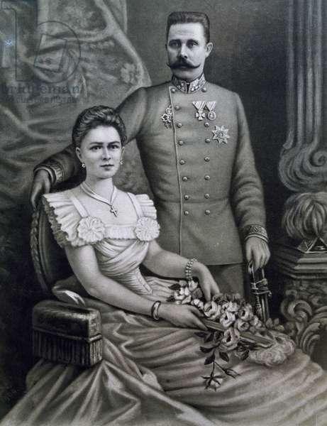 Archduke Franz Ferdinand of Austria (Graz, 1863-Sarajevo, 1914), Archduke of the Habsburg Dynasty in Austria and heir to the Austro-Hungarian throne and his wife Sophie of Hohenberg (Konopiste, 1901-Thannhausen, 1990)