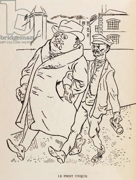 United front, by George Grosz (1893-1959), satirical drawing. Germany, 20th century.