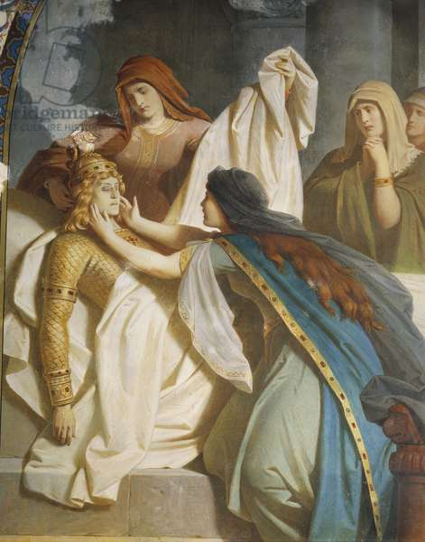 The death of Sigurd, from the Sigurd Saga, Lower Hall, c.1882-83 (mural)