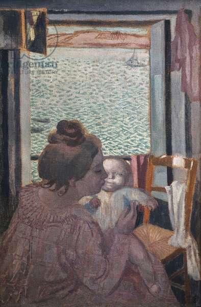Motherhood at window, 1901 (oil on canvas)