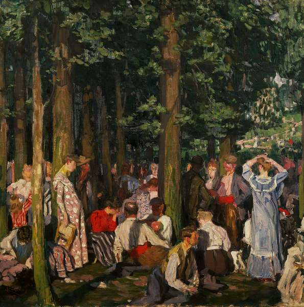 In the Bois de Boulogne, 1907, by Frantisek Kupka (1871-1957), oil on canvas. Czech Republic, 20th century.
