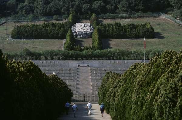 Italy, Lazio Region, Frosinone Province, Monte Cassino, Polish war cemetery