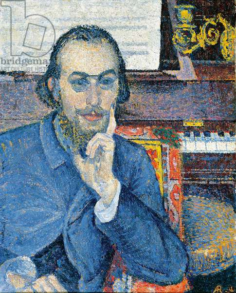 Portrait of the French composer Erik Satie