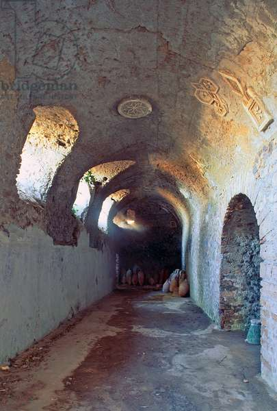 House of Cryptoporticus, with barrel vault decorated with stucco, Pompeii (UNESCO World Heritage Site, 1997), Italy, Roman civilization, 3rd century BC-1st century AD