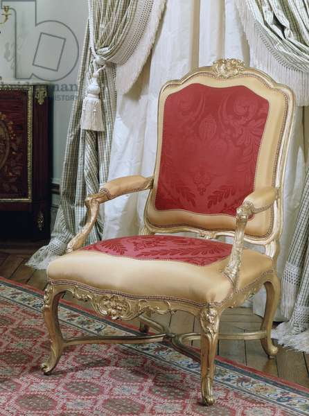 Louis XV style carved and gilt armchair, attributed to Louis Cresson (1706-1761), France, 18th century