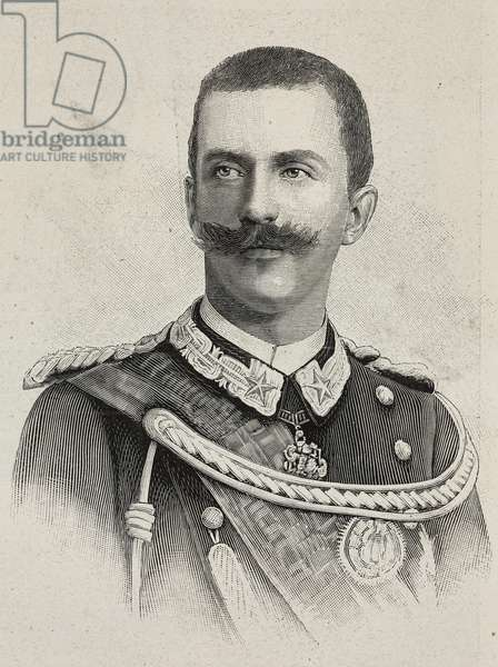 Portrait of Vittorio Emanuele III (1869-1947), King of Italy, illustration from L'Illustration, No 2997, August 4, 1900