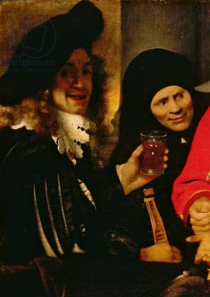 Musician and Procuress, detail from The Procuress, 1656, by Jan Vermeer (1632-1675), oil on canvas, cm 143x130