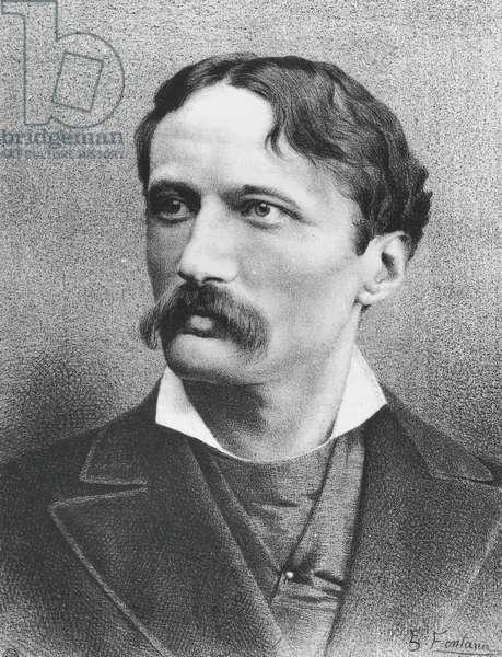 Portrait of Arrigo Boito (Padua, 1842 - Milan, 1918), poet, librettist and Italian composer