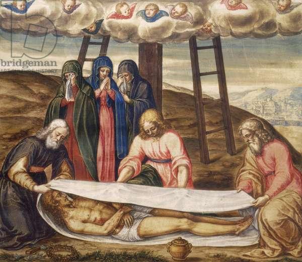The Holy Shroud, by Giovanni Battista della Rovere (ca 1561-ca 1630), oil on canvas, 55x44 cm. Detail.