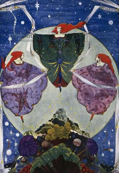 Elf hill, fairy tale by Hans Christian Andersen (1805-1875), illustration by Harry Clarke (1890-1931)