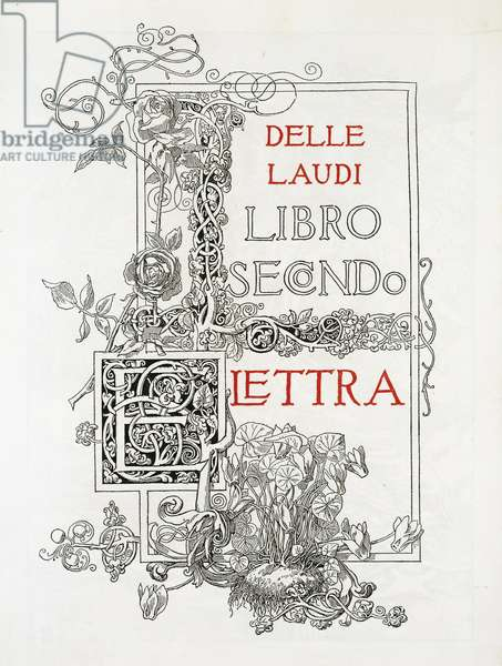 Laudi, Elettra second book by Gabriele D'Annunzio, 1904, illustration
