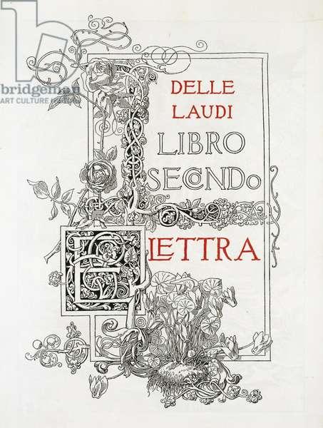 Laudi, Elettra second book by Gabriele D'Annunzio, 1904, illustration