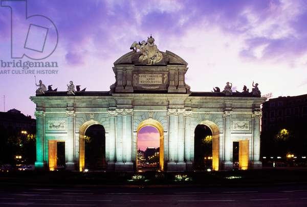 Puerta de Alcala (Alcala Gate), 1774-1778, architect Francesco Sabatini (1722-1797), Madrid, Spain