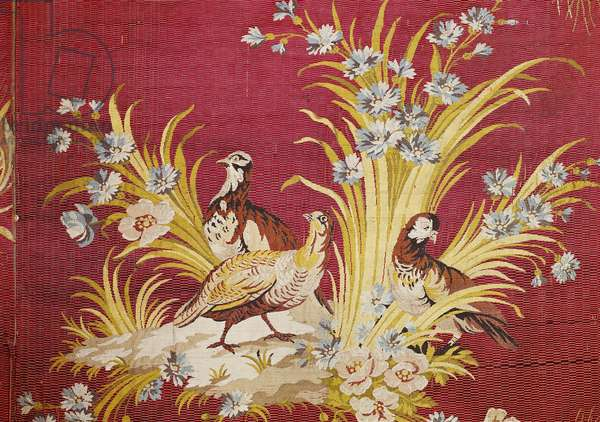 Tapestry with floral and zoomorphic motifs, by Philippe de Lasalle, 18th century