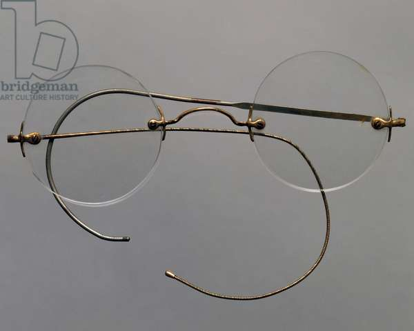 Eyeglasses with traditional metal frame, 1930s, Italy, 20th century