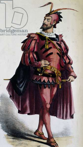 Costume for Mephistopheles, from Art of Disguise, by Leon Sault, end of 19th century