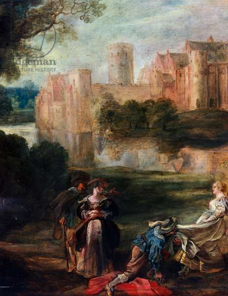 Couples in Castle Park, c.1635 (oil on panel)