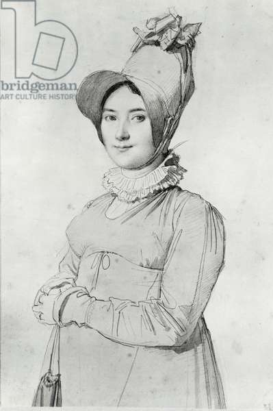 Madame Ingres, born Madeleine Chapelle, drawing by Jean-Auguste-Dominique Ingres (1780-1867). France, 18th-19th century