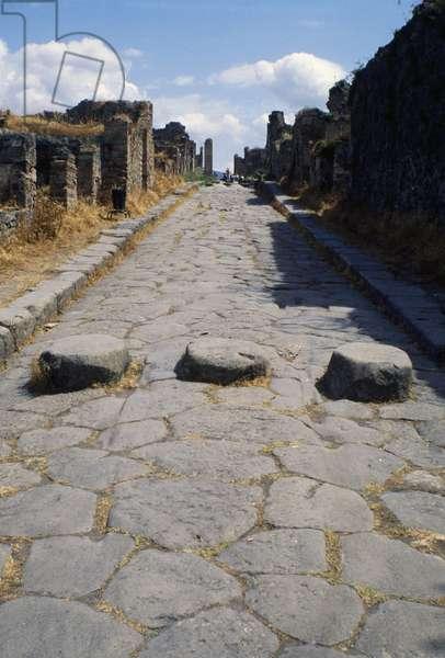 Via Stabiana, Pompeii (UNESCO World Heritage Site, 1997), Campania, Italy, ancient Rome, 6th century BC
