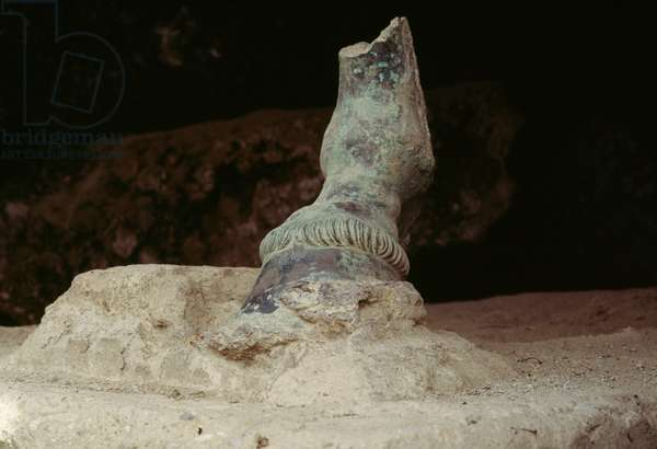Bronze hoof, Herculaneum (UNESCO World Heritage List, 1997), Campania, Italy. Roman civilization